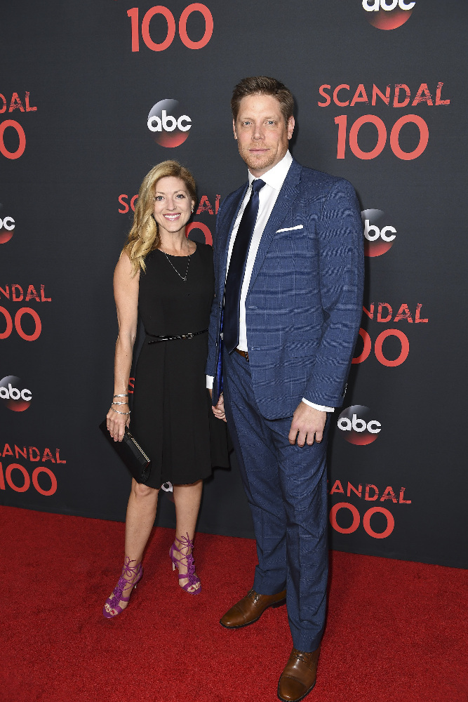 "SCANDAL - The cast of ""Scandal"" attended a 100th episode celebration in West Hollywood, CA. The 100th episode, entitled ""The Decision,"" airs THURSDAY, APRIL 13 (9:01-10:00 p.m. EST), on the ABC Television Network. (ABC/Todd Wawrychuk) BRIAN LETSCHER"