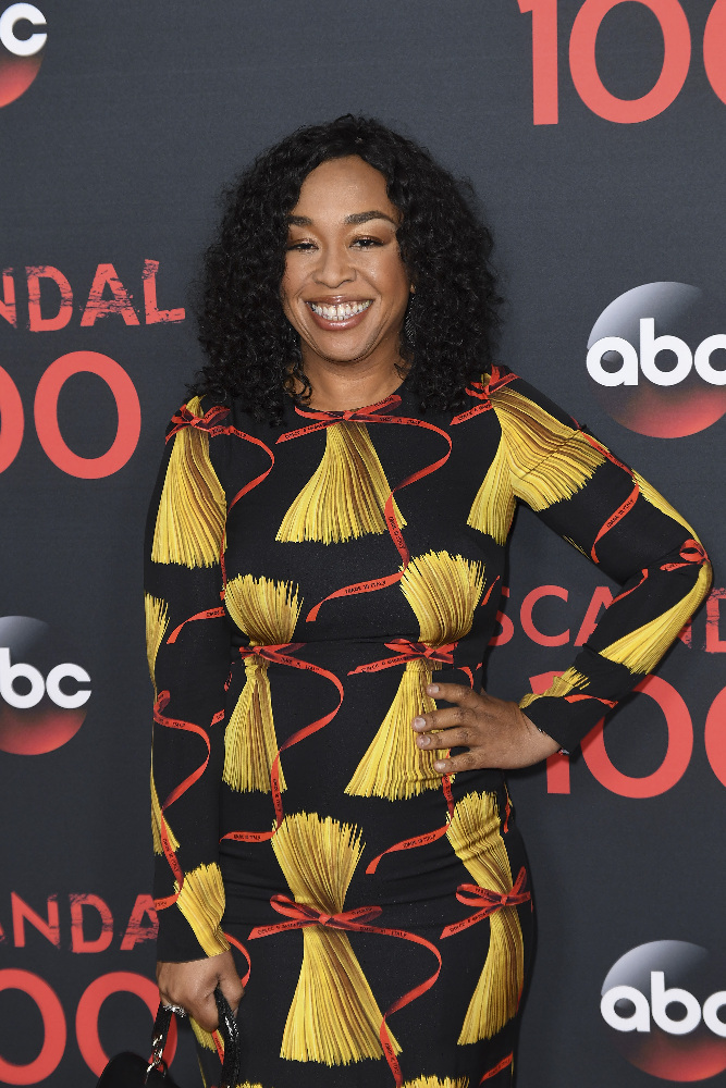 "SCANDAL - The cast of ""Scandal"" attended a 100th episode celebration in West Hollywood, CA. The 100th episode, entitled ""The Decision,"" airs THURSDAY, APRIL 13 (9:01-10:00 p.m. EST), on the ABC Television Network. (ABC/Todd Wawrychuk) SHONDA RHIMES"