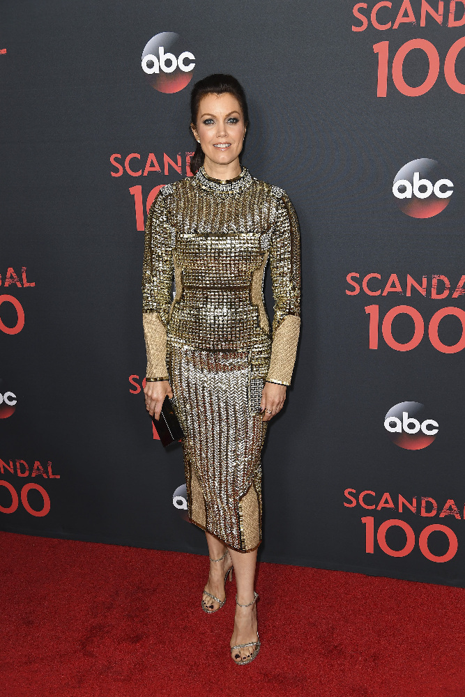 "SCANDAL - The cast of ""Scandal"" attended a 100th episode celebration in West Hollywood, CA. The 100th episode, entitled ""The Decision,"" airs THURSDAY, APRIL 13 (9:01-10:00 p.m. EST), on the ABC Television Network. (ABC/Todd Wawrychuk) BELLAMY YOUNG"