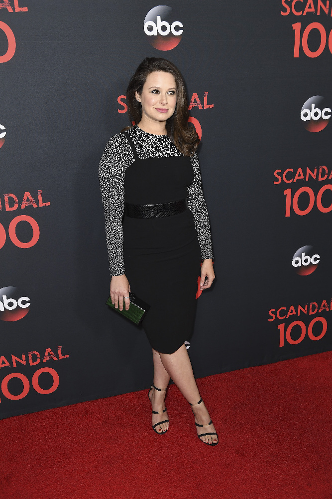 "SCANDAL - The cast of ""Scandal"" attended a 100th episode celebration in West Hollywood, CA. The 100th episode, entitled ""The Decision,"" airs THURSDAY, APRIL 13 (9:01-10:00 p.m. EST), on the ABC Television Network. (ABC/Todd Wawrychuk) KATIE LOWES"