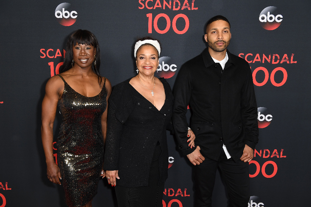 "SCANDAL - The cast of ""Scandal"" attended a 100th episode celebration in West Hollywood, CA. The 100th episode, entitled ""The Decision,"" airs THURSDAY, APRIL 13 (9:01-10:00 p.m. EST), on the ABC Television Network. (ABC/Todd Wawrychuk) DEBBIE ALLEN"