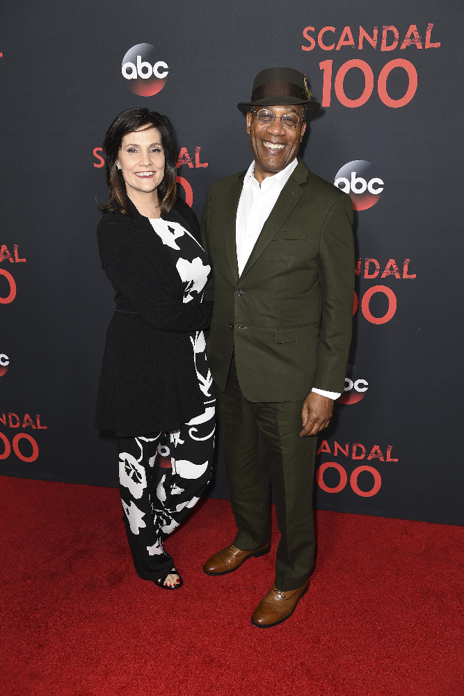 "SCANDAL - The cast of ""Scandal"" attended a 100th episode celebration in West Hollywood, CA. The 100th episode, entitled ""The Decision,"" airs THURSDAY, APRIL 13 (9:01-10:00 p.m. EST), on the ABC Television Network. (ABC/Todd Wawrychuk) JOE MORTON"
