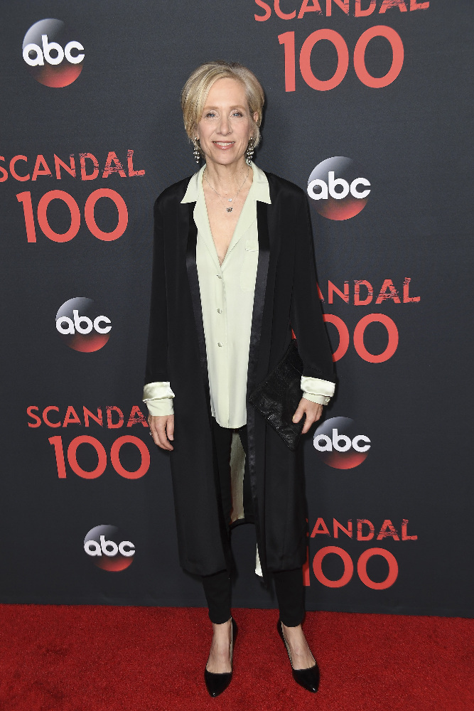 "SCANDAL - The cast of ""Scandal"" attended a 100th episode celebration in West Hollywood, CA. The 100th episode, entitled ""The Decision,"" airs THURSDAY, APRIL 13 (9:01-10:00 p.m. EST), on the ABC Television Network. (ABC/Todd Wawrychuk) BETSY BEERS"