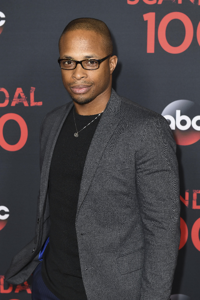 "SCANDAL - The cast of ""Scandal"" attended a 100th episode celebration in West Hollywood, CA. The 100th episode, entitled ""The Decision,"" airs THURSDAY, APRIL 13 (9:01-10:00 p.m. EST), on the ABC Television Network. (ABC/Todd Wawrychuk) CORNELIUS SMITH, JR."
