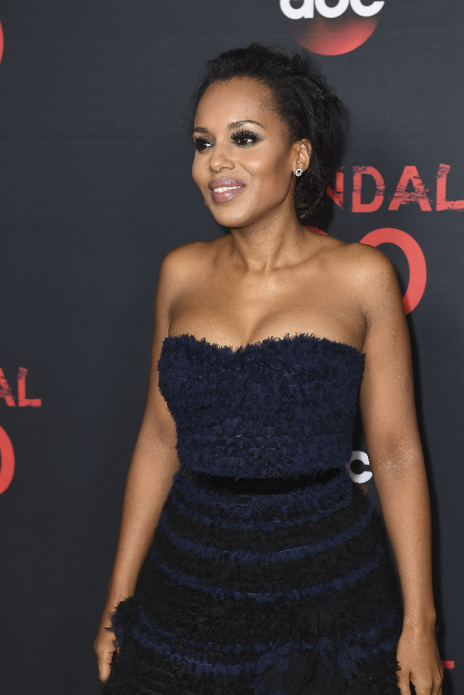 "SCANDAL - The cast of ""Scandal"" attended a 100th episode celebration in West Hollywood, CA. The 100th episode, entitled ""The Decision,"" airs THURSDAY, APRIL 13 (9:01-10:00 p.m. EST), on the ABC Television Network. (ABC/Todd Wawrychuk) KERRY WASHINGTON"