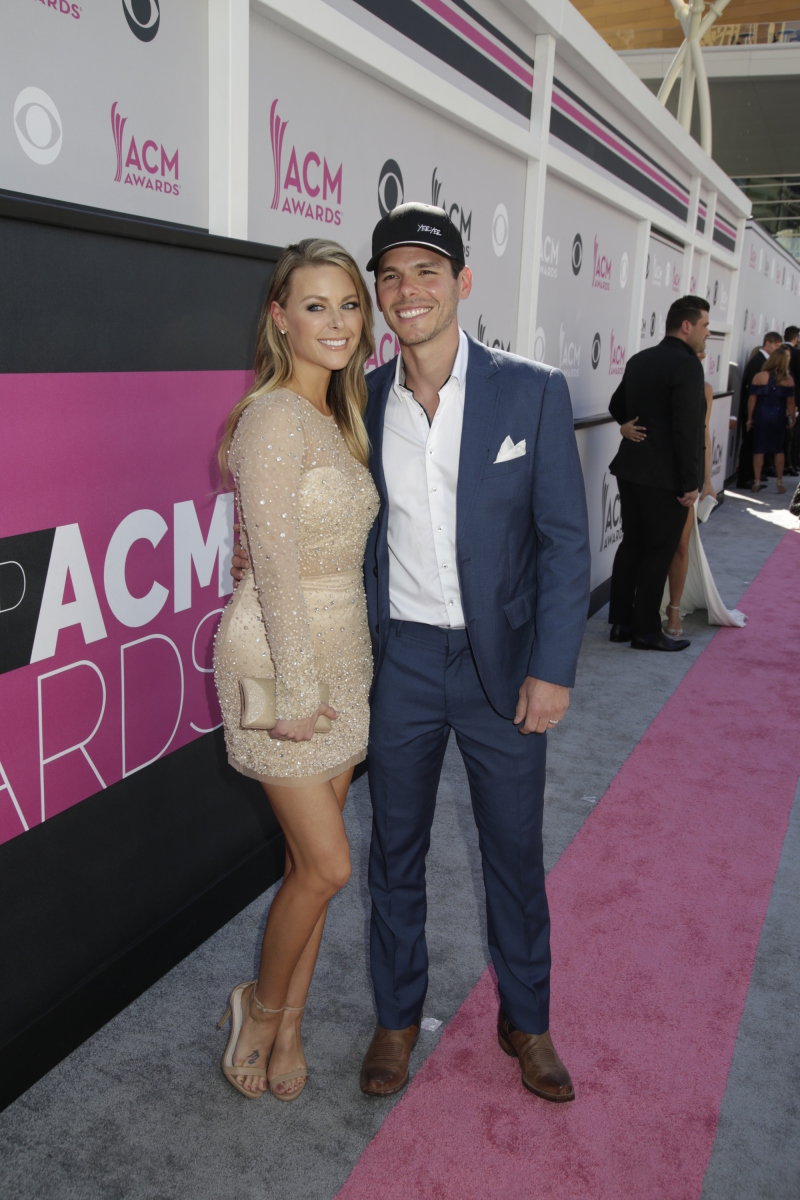 Granger Smith and guest on the red carpet at THE 52ND ACADEMY OF COUNTRY MUSIC AWARDS®, broadcast LIVE from T-Mobile Arena in Las Vegas Sunday, April 2 (live 8:00-11:00 PM, ET/delayed PT) on the CBS Television Network. Photo: Francis Specker/CBS ©2017 CBS Broadcasting, Inc. All Rights Reserved
