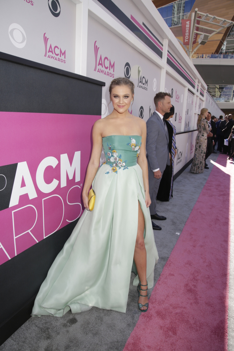 Kelsea Ballerini on the red carpet at THE 52ND ACADEMY OF COUNTRY MUSIC AWARDS®, broadcast LIVE from T-Mobile Arena in Las Vegas Sunday, April 2 (live 8:00-11:00 PM, ET/delayed PT) on the CBS Television Network. Photo: Francis Specker/CBS ©2017 CBS Broadcasting, Inc. All Rights Reserved