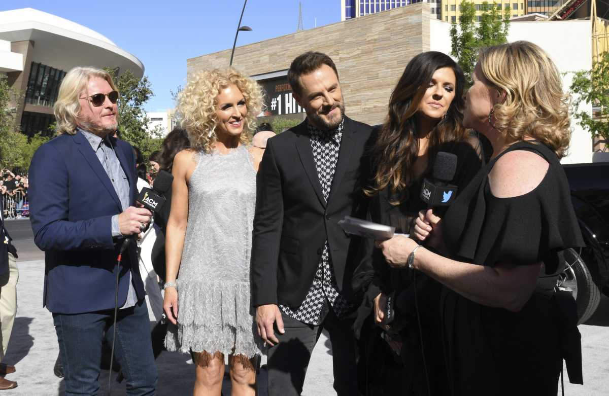 Little Big Town on the red carpet for THE 52ND ACADEMY OF COUNTRY MUSIC AWARDS®, scheduled to air LIVE from T-Mobile Arena in Las Vegas Sunday, April 2 (live 8:00-11:00 PM, ET/delayed PT) on the CBS Television Network. Photo: Michele Crowe/CBS ©2017 CBS Broadcasting, Inc. All Rights Reserved