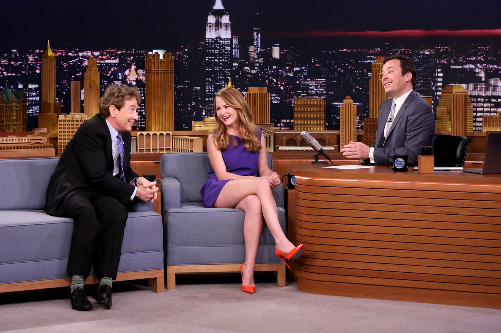 Britt Robertson Appears Talks Quot Girlboss Quot On Jimmy Fallon