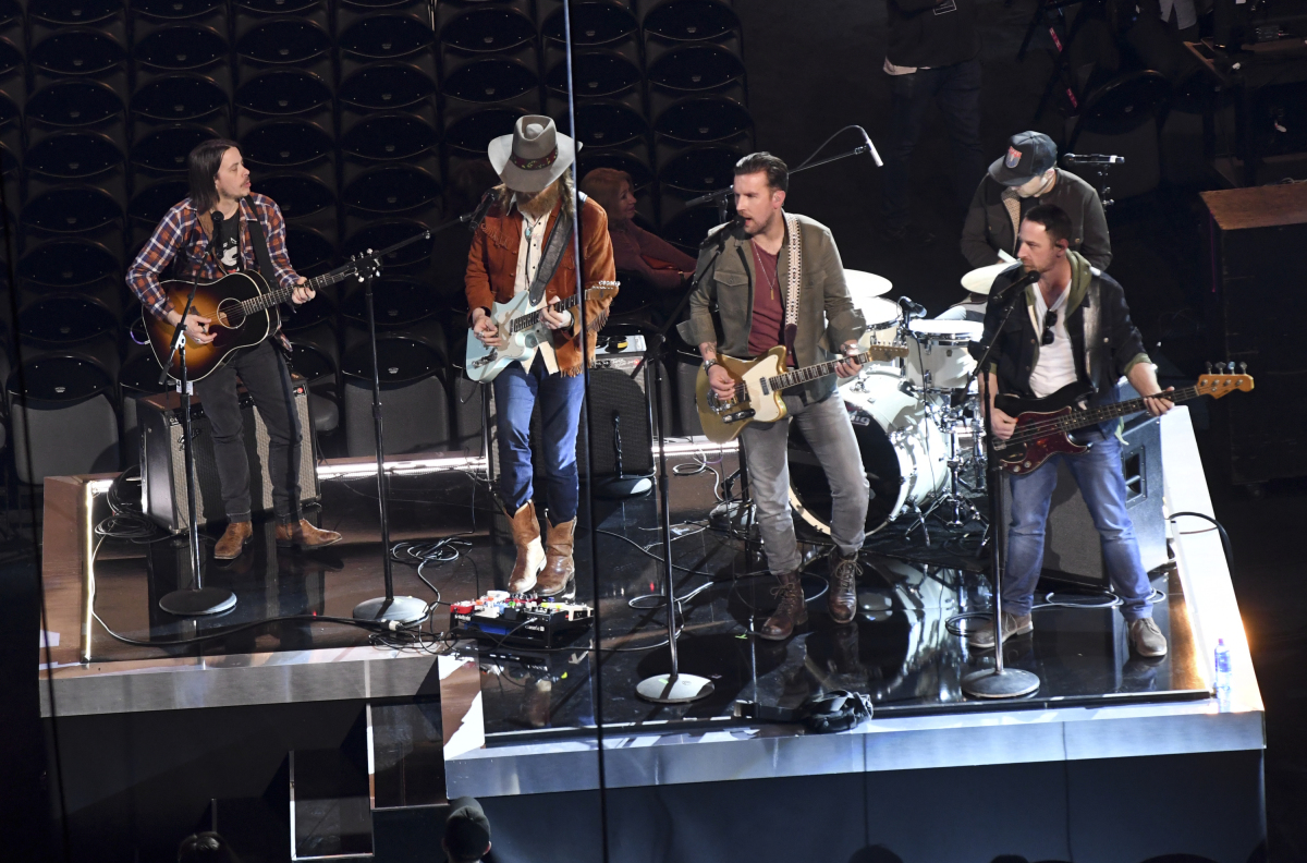 Brothers Osborne perform during rehearsal for THE 52ND ACADEMY OF COUNTRY MUSIC AWARDS®, scheduled to air LIVE from T-Mobile Arena in Las Vegas Sunday, April 2 (live 8:00-11:00 PM, ET/delayed PT) on the CBS Television Network. Photo: Michele Crowe/CBS ©2017 CBS Broadcasting, Inc. All Rights Reserved