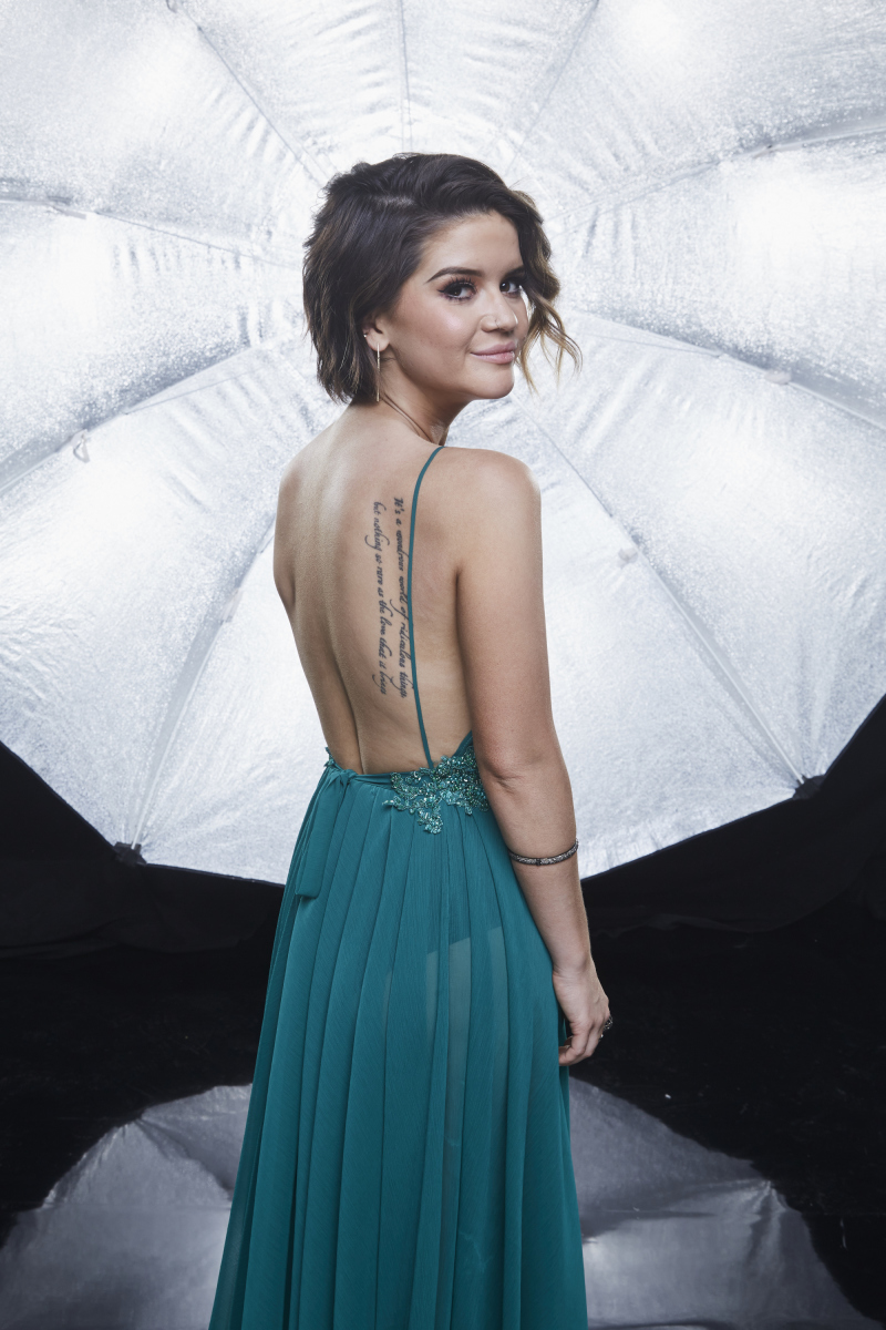 Maren Morris poses for a photograph at the photo booth THE 52ND ACADEMY OF COUNTRY MUSIC AWARDS®, broadcast LIVE from T-Mobile Arena in Las Vegas Sunday, April 2 (8:00-11:00 PM, live ET/delayed PT) on the CBS Television Network. Photo: Monty Brinton/CBS ©2017 CBS Broadcasting, Inc. All Rights Reserved