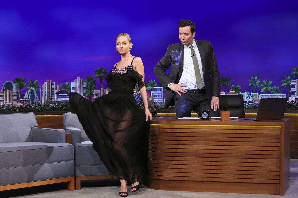 THE TONIGHT SHOW STARRING JIMMY FALLON -- Episode 0653 -- Pictured: (l-r) Actress Nicole Richie during an interview with host Jimmy Fallon on April 5, 2017 -- (Photo by: Andrew Lipovsky/NBC)