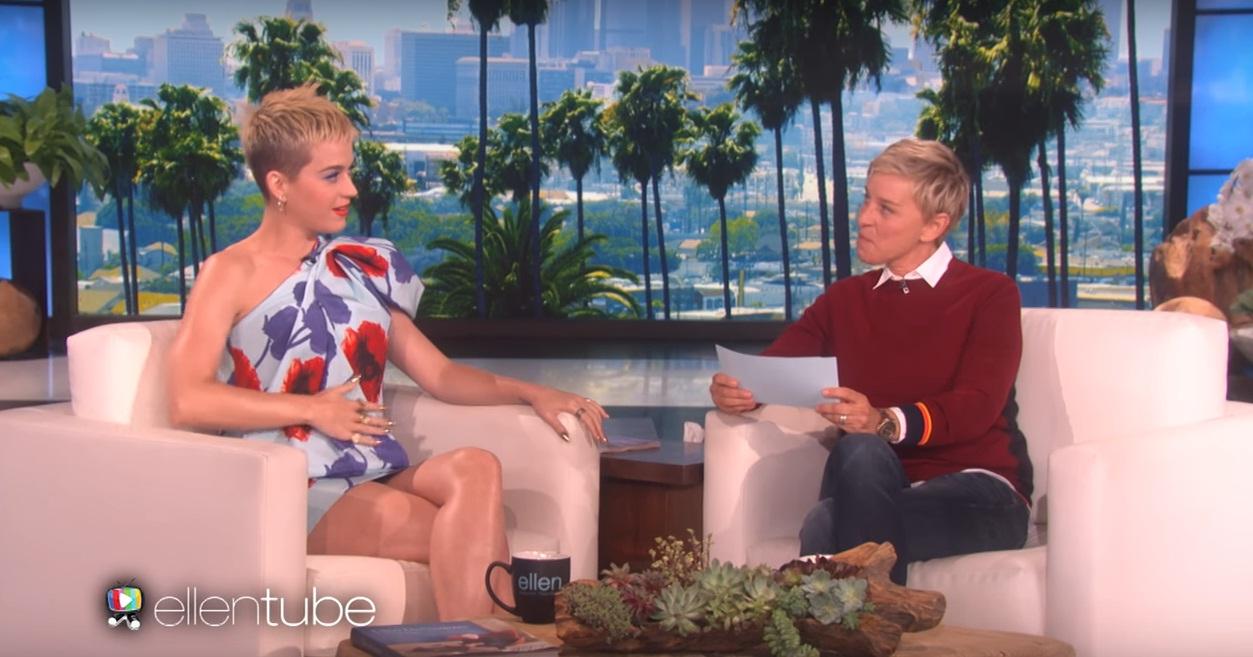 Katy perry discusses new album new look on ellen degeneres show watch - Ellen show address ...