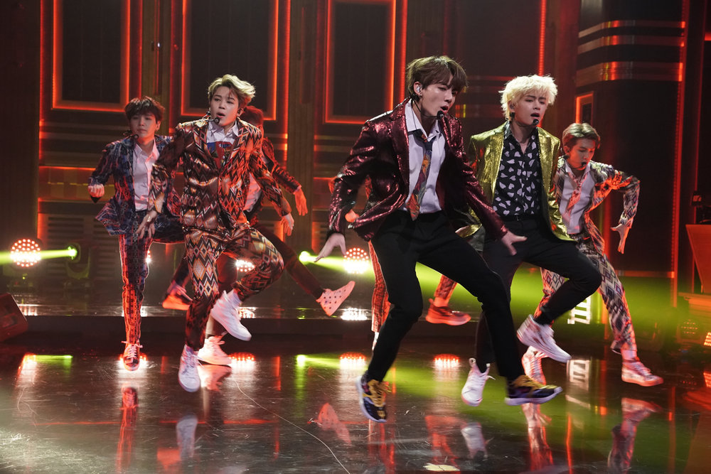 Watch BTS and Jimmy Fallon slay the Fortnite Dance Challenge