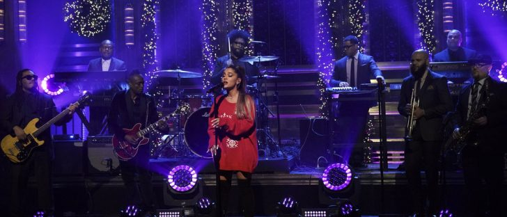 Ariana Grande performing on Fallon