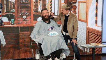 Julian Edelman gets beard shaved on Ellen