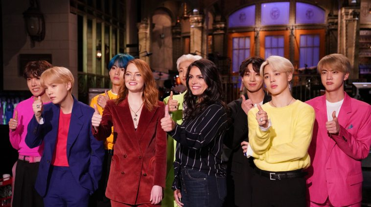 BTS performed 'Boy With Luv' and 'Mic Drop' on 'SNL'
