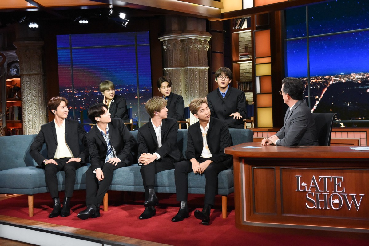 BTS Dress Up Like the Beatles on 'Late Show With Stephen Colbert'