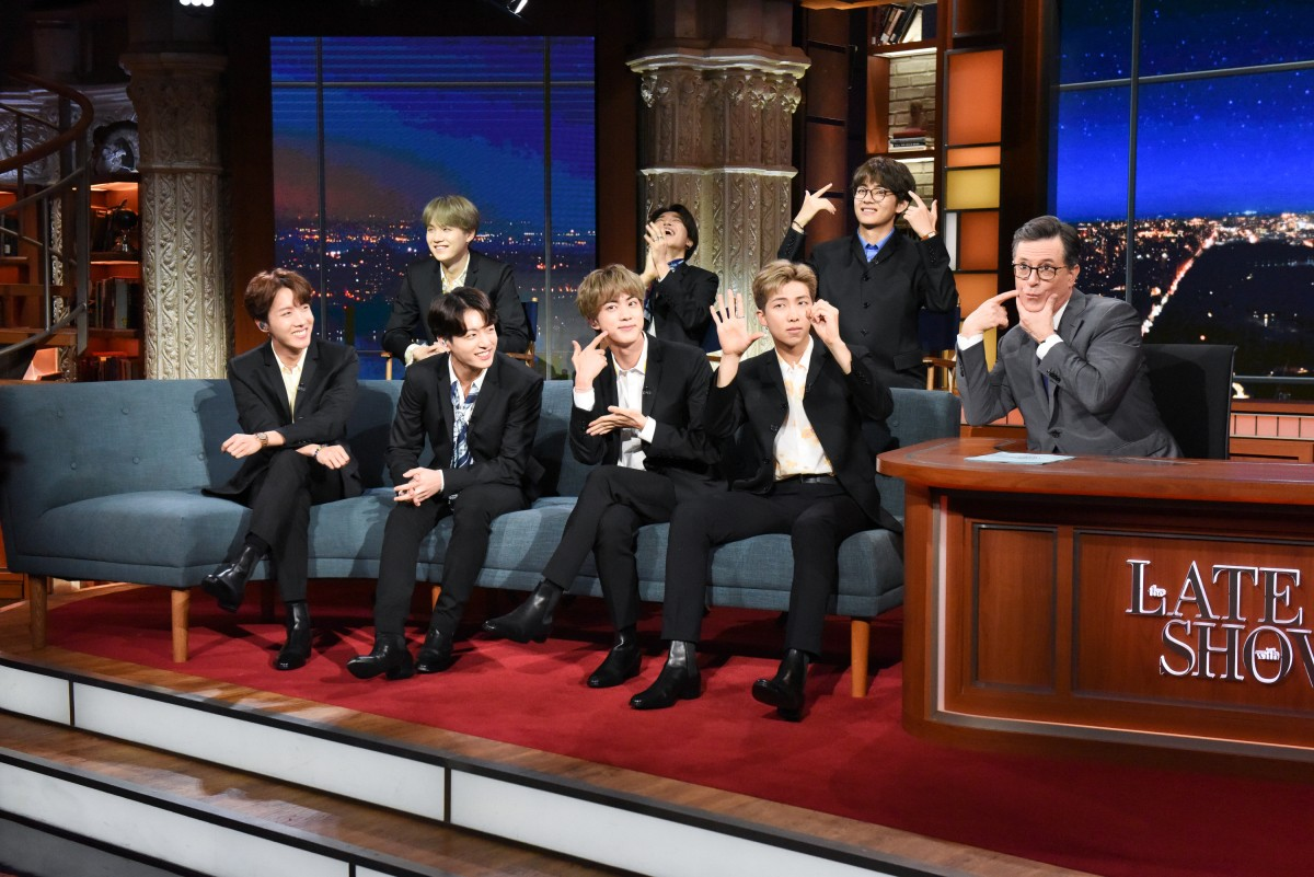 BTS channels The Beatles on 'Colbert' debut