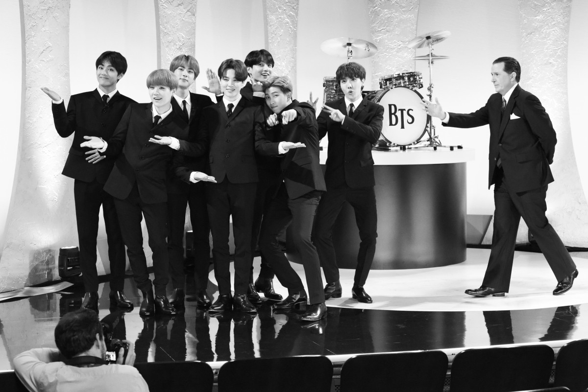 BTS channel The Beatles for Stephen Colbert's 'BTS-mania' spoof