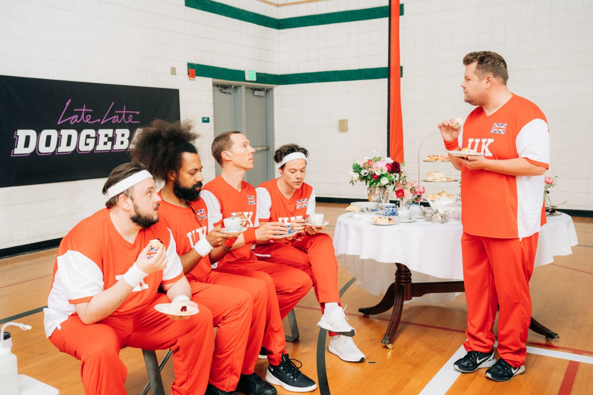 Michelle Obama takes on James Corden in a celebrity-packed dodgeball game