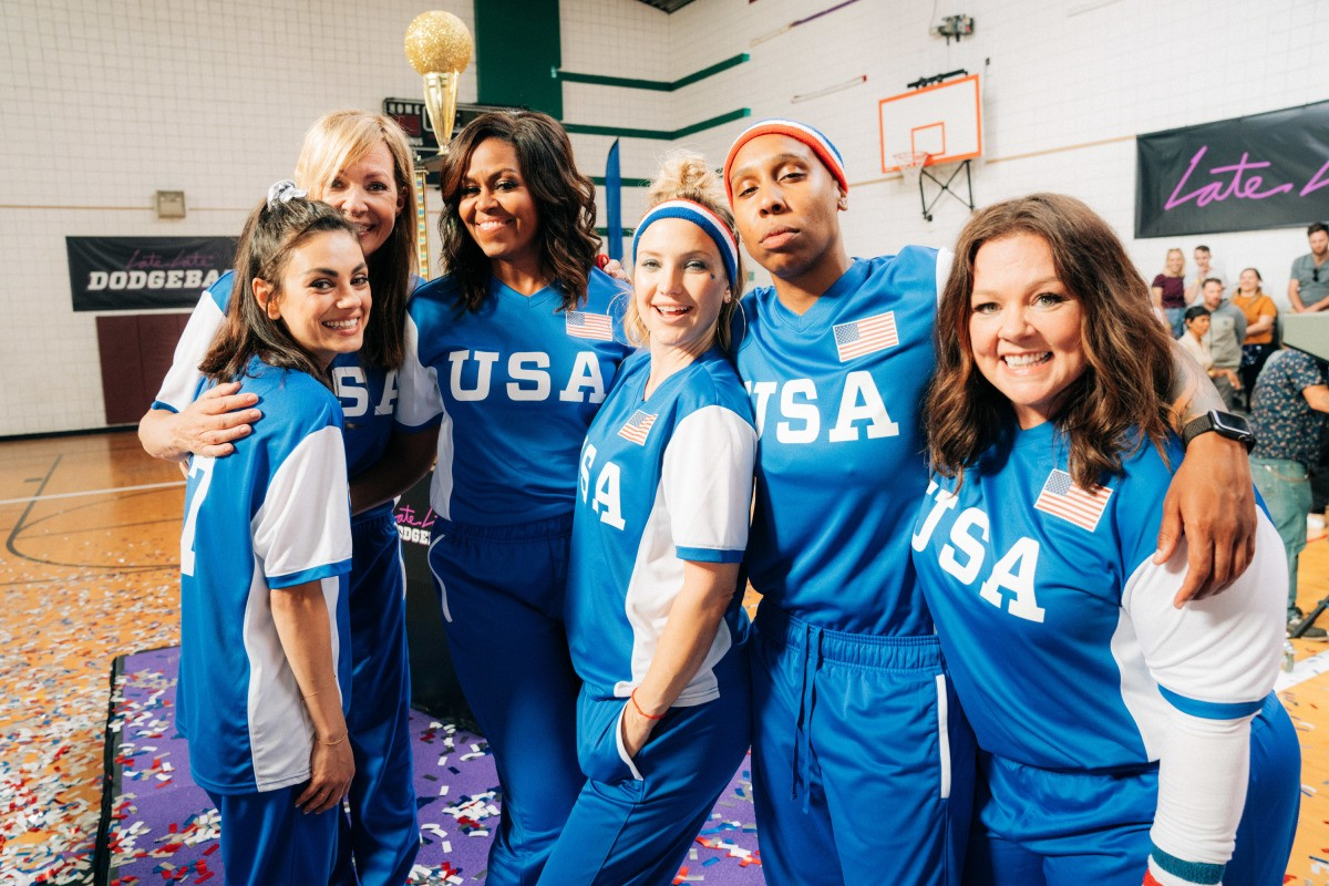 Michelle Obama Challenged James Cordon to a Dodgeball 'Battle of the Sexes'