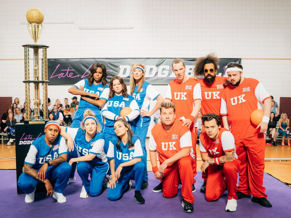 Michelle Obama And James Corden Face Off In Epic Dodgeball Battle