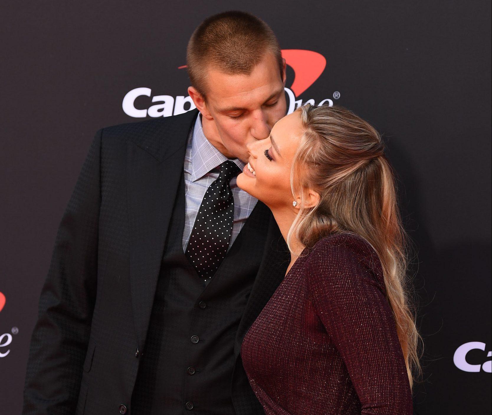 Rob Gronkowski and Camille Kostek at the ESPYS