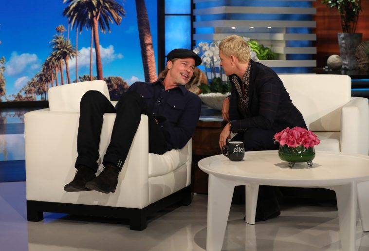 Fabulous Brad Pitt Appears For Interview On Ellen Degeneres Show Ocoug Best Dining Table And Chair Ideas Images Ocougorg