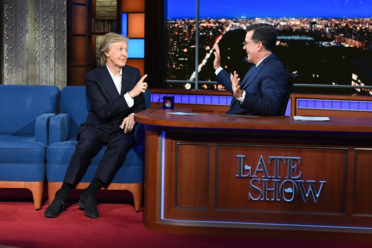 Paul McCartney Reminisces About Beatles, John Lennon on 'Colbert'